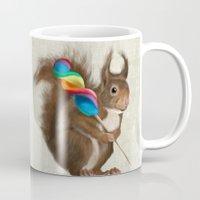 Squirrel with lollipop Mug