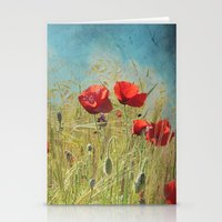 Fantasy Poppies Stationery Cards