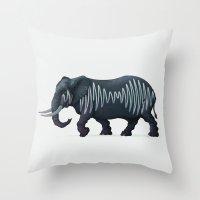 Elepham (Herd of Sheffield) Throw Pillow