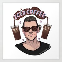 Iced Coffee Haz Art Print