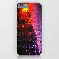 Sunset through water droplets iPhone 6 Slim Case