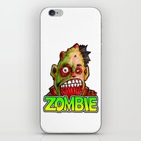 ZOMBIE title with zombie head iPhone & iPod Skin
