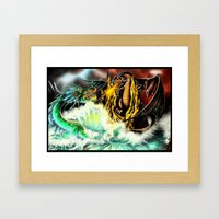 Land vs. Sea Framed Art Print