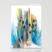 Barbershop Quartet of Evil Trees Stationery Cards