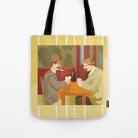 Card players by Cezanne Tote Bag