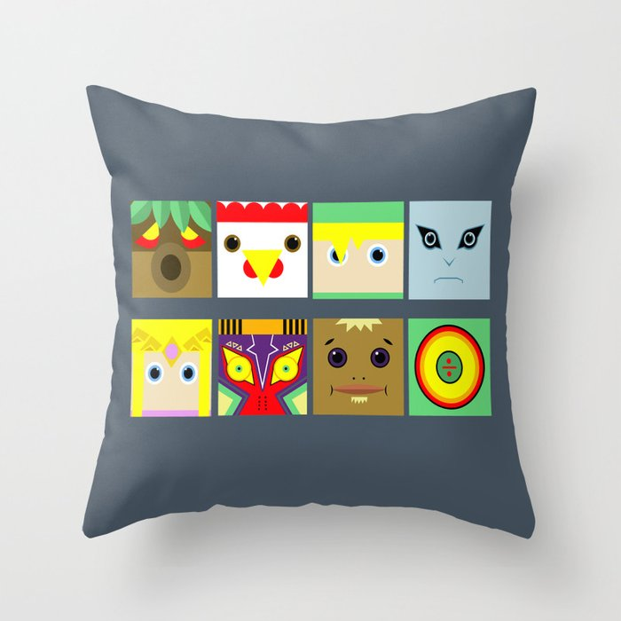 Zelda Throw Pillow : ZELDA GAME Throw Pillow by PipocaVFX Society6