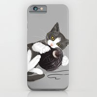 iPhone & iPod Case featuring Kitten and Death Star Ball of Yarn by Olechka