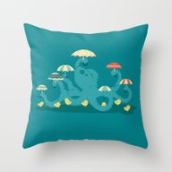 Keepin' The Chicks Dry Throw Pillow