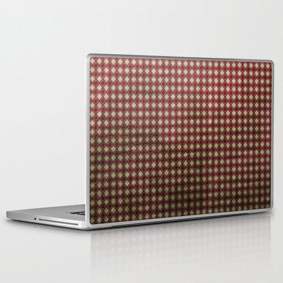 Royal Scarlet - Textured Pattern Laptop & iPad Skin