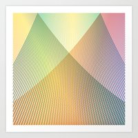 Gradient Strings Art Print