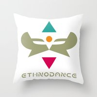 Ethnodance Throw Pillow