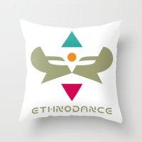 Ethnodance Throw Pillow