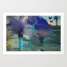 TheDesert blue -By Sherri Of Palm Springs Art Print