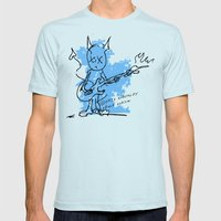 BLUE DEVIL Mens Fitted Tee Light Blue SMALL