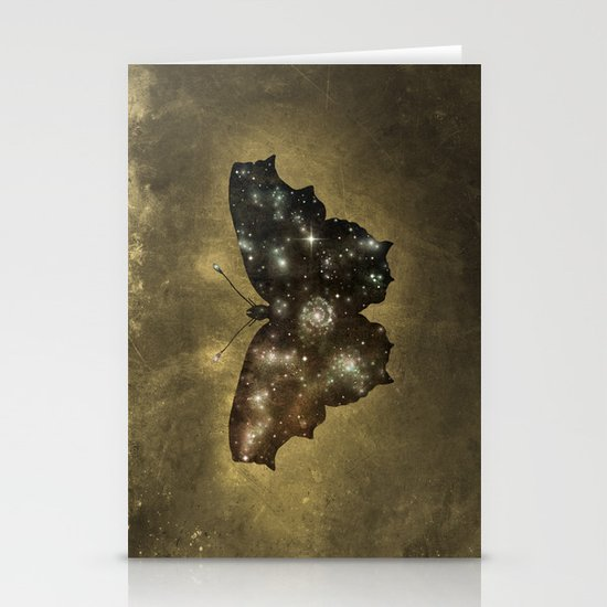Cosmic Butterfly  Stationery Card