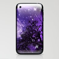 Trees, Stars And Lavende… iPhone & iPod Skin
