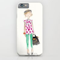 iPhone & iPod Case featuring Pink Polka Dots by Sophie & Lili