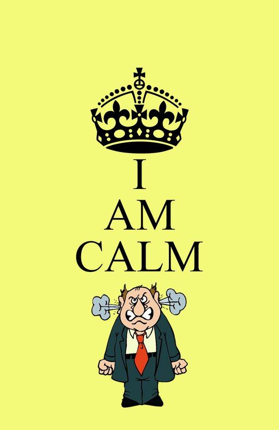 I AM CALM Art Print