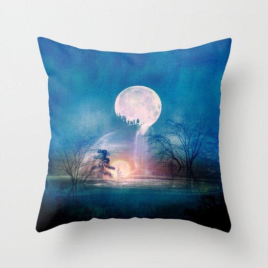 Moon Above, Sun Below Throw Pillow