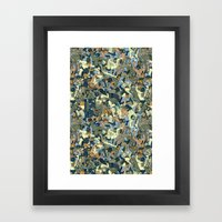 Lucha Pattern(blue&orang… Framed Art Print