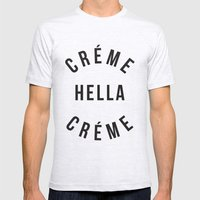 Créme Hella Créme Mens Fitted Tee Ash Grey SMALL