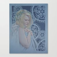 Winter Lace Canvas Print