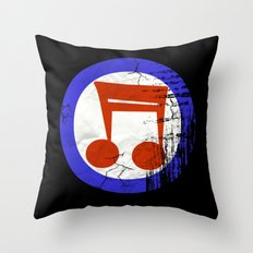 Music Mod Throw Pillow