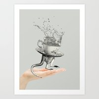 Out of my hand Art Print