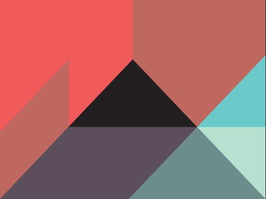Black Triangle & Reds Art Print