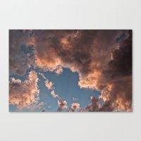 A Sky On Fire Canvas Print