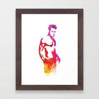 Tyler Durden Fight Stanc… Framed Art Print