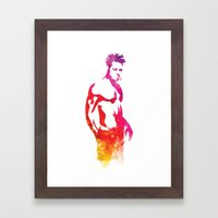 Tyler Durden Fight Stanc… Framed Art Print