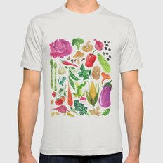 VEGGIES Mens Fitted Tee Silver SMALL