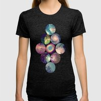 Galaxy Womens Fitted Tee Tri-Black SMALL