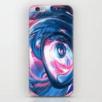 pinkvsblue iPhone & iPod Skin