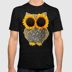 Hoot! Day Owl! Mens Fitted Tee Tri-Black SMALL