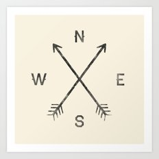 Compass (Natural) Art Print