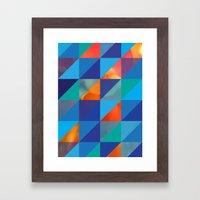Triangles 4 Framed Art Print