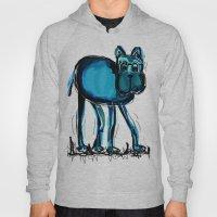 blue dog Hoody
