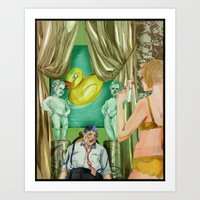 Golden Shower Art Print