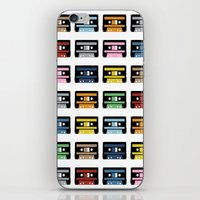 Rainbow Black Tapes iPhone & iPod Skin