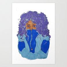 Purple Curls Art Print
