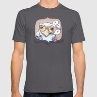 Hipster Owl Mens Fitted Tee Asphalt SMALL