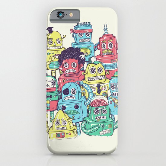 Robot's can't Smile iPhone & iPod Case
