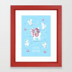 Knitting Adventure Framed Art Print