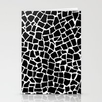 British Mosaic Black and White Stationery Cards