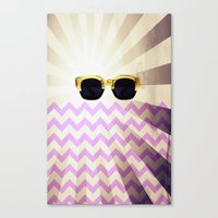Canvas Print featuring Sunglasses with chevron by Ylenia Pizzetti