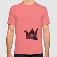 Cranes & Stars Mens Fitted Tee Pomegranate SMALL