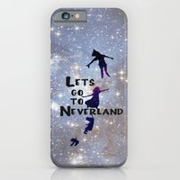 iPhone Cases featuring Lets Go To Neverland by Amber Rose