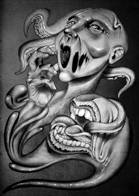 From my mouth Art Print
